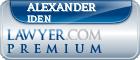 Alexander Riddick Iden  Lawyer Badge