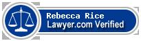 Rebecca A. Rice  Lawyer Badge