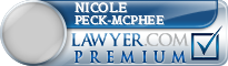 Nicole Peck-McPhee  Lawyer Badge