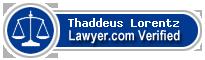 Thaddeus R. Lorentz  Lawyer Badge