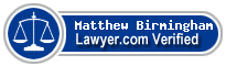 Matthew T. Birmingham  Lawyer Badge