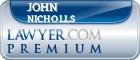 John F. Nicholls  Lawyer Badge