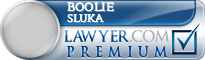 Boolie L. Sluka  Lawyer Badge