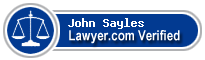 John D Sayles  Lawyer Badge