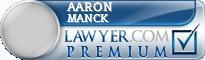 Aaron D Manck  Lawyer Badge