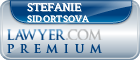 Stefanie L Sidortsova  Lawyer Badge
