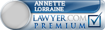 Annette Lorraine  Lawyer Badge
