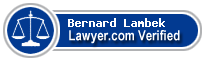 Bernard D. Lambek  Lawyer Badge