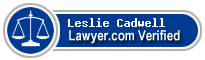 Leslie A. Cadwell  Lawyer Badge