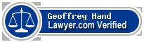 Geoffrey H. Hand  Lawyer Badge