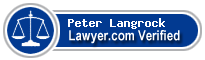 Peter F. Langrock  Lawyer Badge