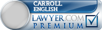 Carroll English  Lawyer Badge