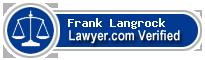 Frank H. Langrock  Lawyer Badge