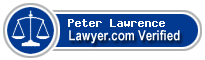 Peter M. Lawrence  Lawyer Badge