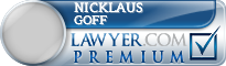 Nicklaus H. Goff  Lawyer Badge