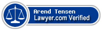 Arend R. Tensen  Lawyer Badge