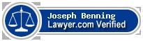 Joseph C. Benning  Lawyer Badge