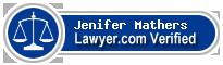 Jenifer Jill Mathers  Lawyer Badge