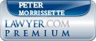 Peter J. Morrissette  Lawyer Badge