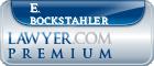 E. Fredric Bockstahler  Lawyer Badge
