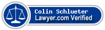 Colin Jewell Schlueter  Lawyer Badge