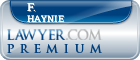 F. Warren Haynie  Lawyer Badge