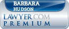 Barbara Hudson  Lawyer Badge