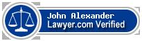 John Richard Henry Alexander  Lawyer Badge