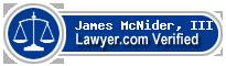James S. McNider, III  Lawyer Badge