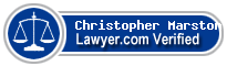 Christopher Michael Marston  Lawyer Badge