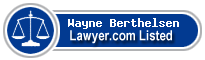 Wayne Berthelsen Lawyer Badge