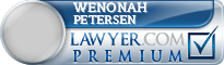 Wenonah Joy Petersen  Lawyer Badge