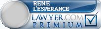 Rene Joseph L'Esperance  Lawyer Badge