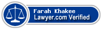 Farah Khakee  Lawyer Badge