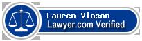 Lauren Hill Vinson  Lawyer Badge