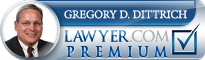 Gregory Duane Dittrich  Lawyer Badge