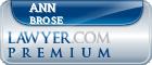 Ann Elizabeth Brose  Lawyer Badge
