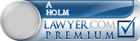 A Fred Holm  Lawyer Badge