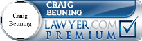 Craig James Beuning  Lawyer Badge