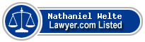 Nathaniel Welte Lawyer Badge
