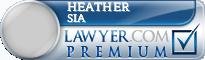 Heather Ann Sia  Lawyer Badge