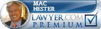 Mac Hester  Lawyer Badge