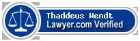 Thaddeus W Wendt  Lawyer Badge
