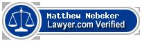 Matthew L Nebeker  Lawyer Badge