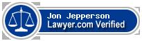 Jon W Jepperson  Lawyer Badge