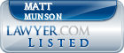 Matt Munson Lawyer Badge