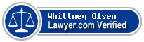 Whittney A Olsen  Lawyer Badge