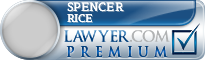 Spencer W Rice  Lawyer Badge