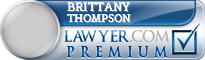 Brittany L Thompson  Lawyer Badge