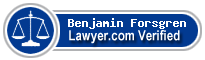 Benjamin John Forsgren  Lawyer Badge
